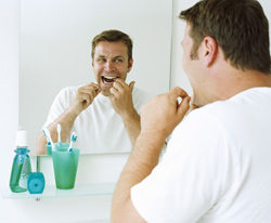 Flossing once each day keeps plaque at bay!