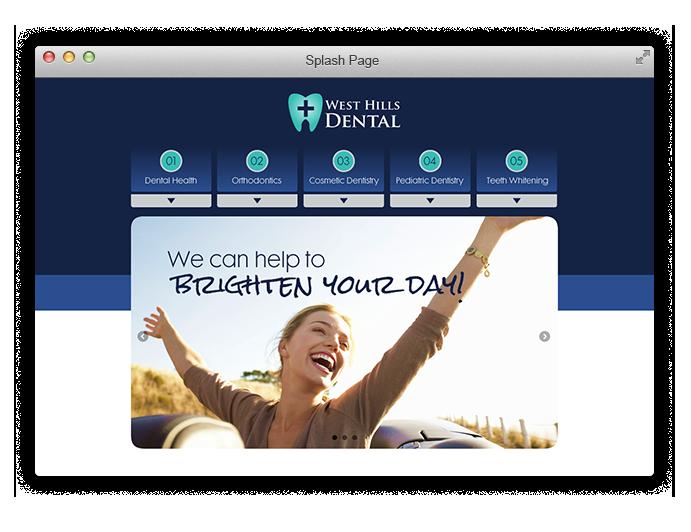 Dental website splash page
