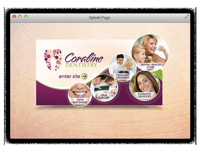 Splash Page Design for Dental Website