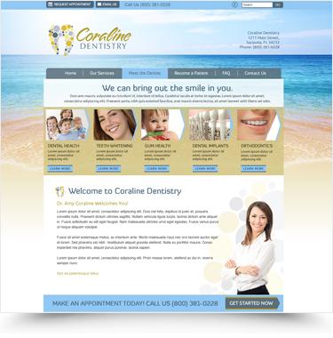 Coraline Dental Website Designs