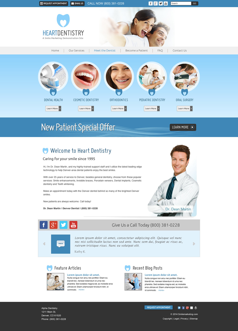 Great Dental Websites Designed by Smile Marketing