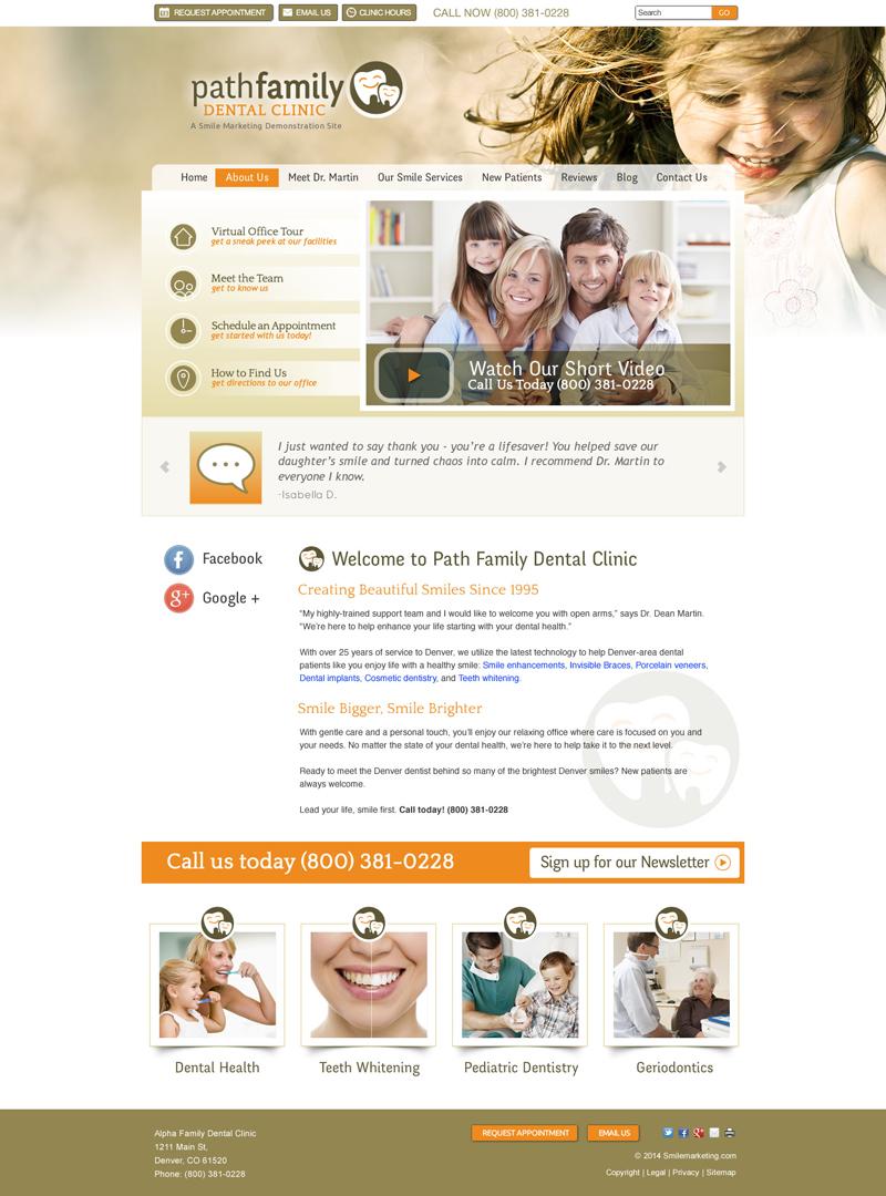 Dental Office Website Design Great Dental Websites Designedsmile Marketing