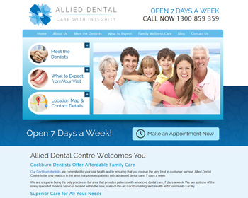 New Allied Dental Centre – Cockburn Dental Website launched ...