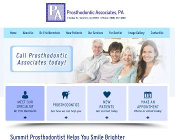 Prosthodontist Website Design