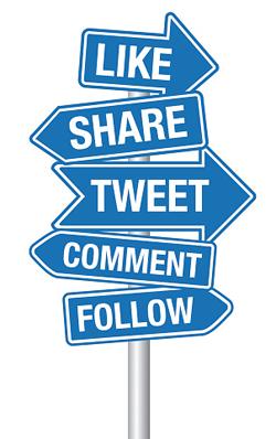 Social Media sign post