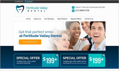 Fortitude Valley Dental website