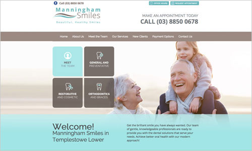 Manningham Smiles website