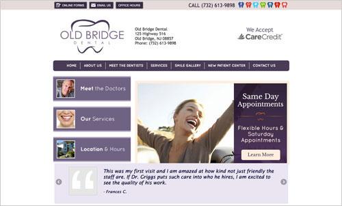 Old Bridge Dental website