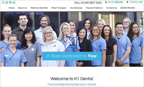 K1 Dental website