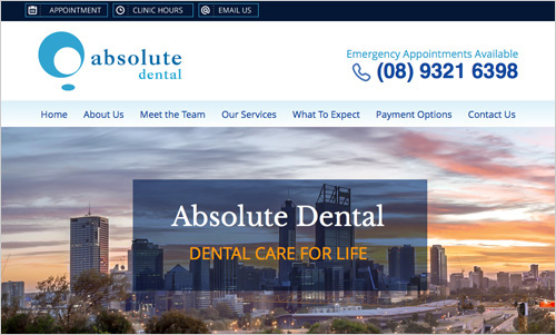 Absolute Dental website