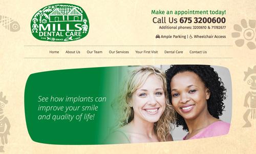 Mills Dental website