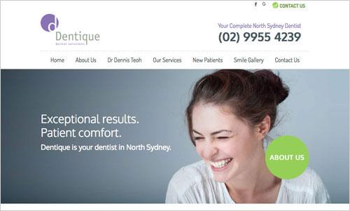 Dentique website
