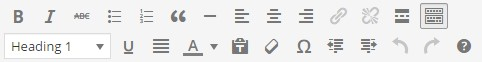 formatting buttons