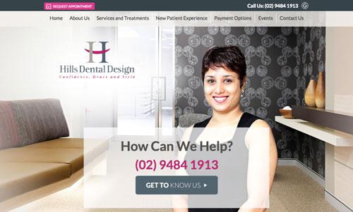 Hills Dental Website Design