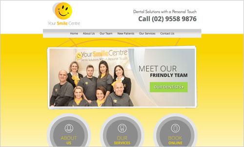 Smile Centre Dental website