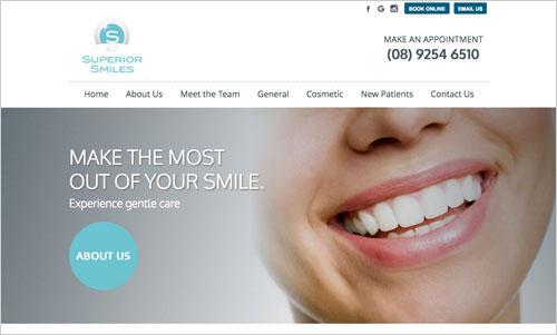 Superior Smiles website