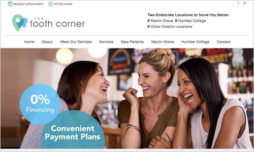 The Tooth Corner Website Design