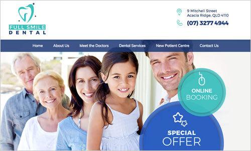 Full Smile Dental website