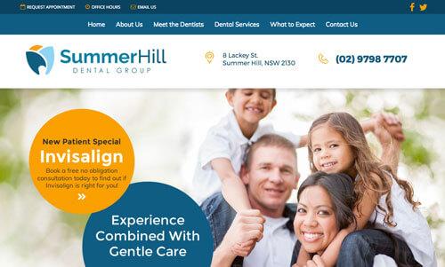 Summer Hill Dental website