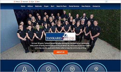 Tankard Dental website