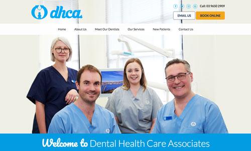 DHCA Dental website