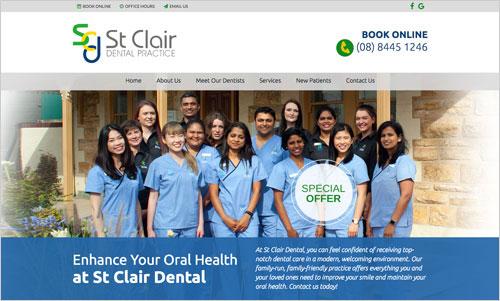 St. Clair Dental Website