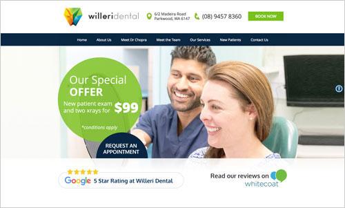 Willeri Dental website