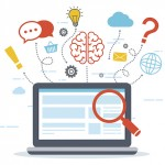Web analytics and Information. SEO optimization. Digital marketing concept.
