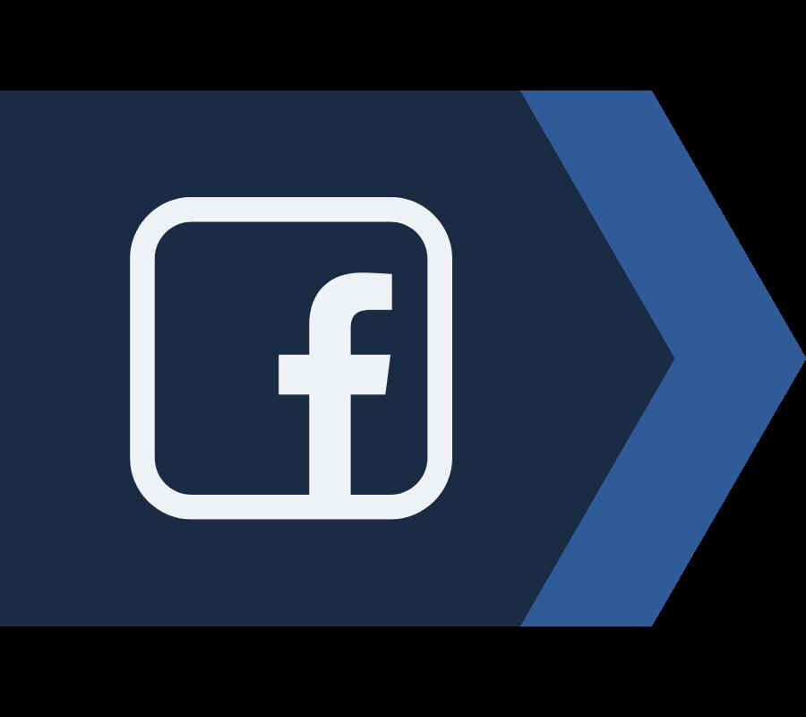 blue arrow facebook