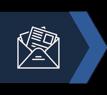 blue arrow newsletter