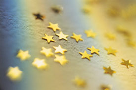 gold paper stars