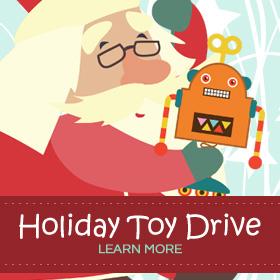 santa toy drive banner