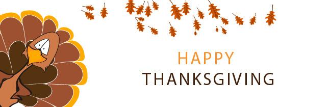 happy thanksgiving turkey banner