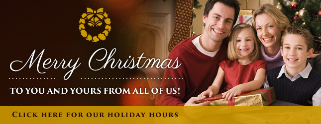 Holiday Hours Contact Page