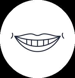 Illustration of big smile