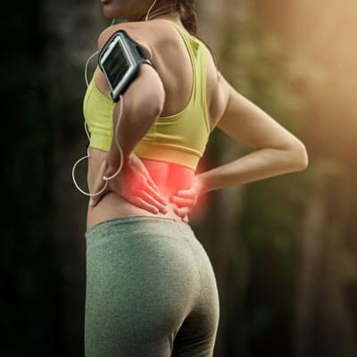 Female runner low back pain