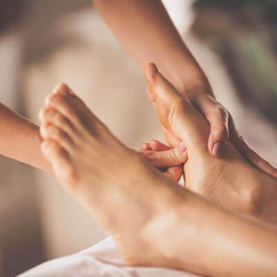 Woman getting foot massage