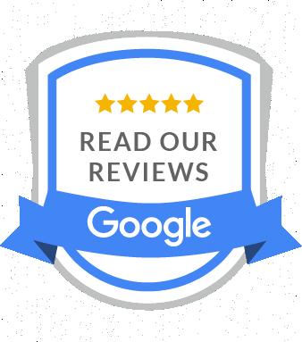 google reviews blue banner