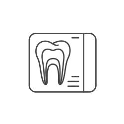 Illustration of dental x-ray