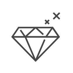 Sparkly diamond