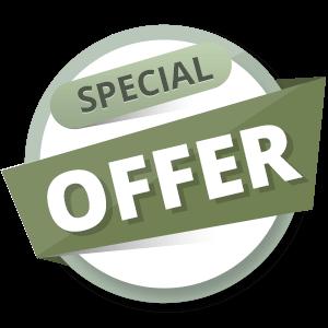green specil offer banner